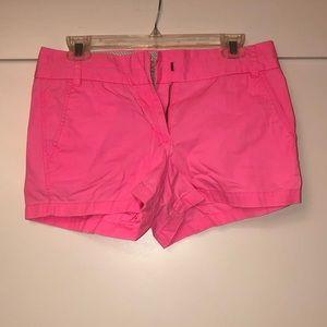 Pink J Crew chino shorts